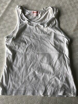 Bluezoo Girls White Vest Top Age 7 - 8 Years