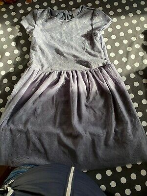 Girls  Dress With Light Grey Leggings Gorgeous The Little White Company Age 7-8