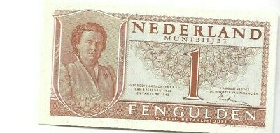 Netherlands 1949 1 Gulden Uncirculated