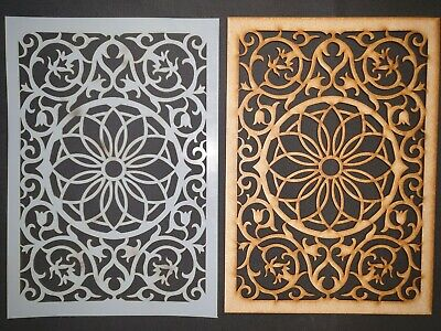 Decorative Panel Pattern Screening Grille MDF Stencil scrapbook Embellishment 11