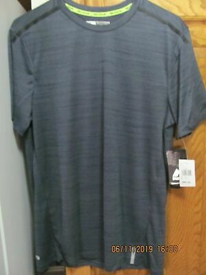 NWT RBX Mens L//S Crew Neck Active Shirt-Color-Coffee//Black-Small-Retail-$40