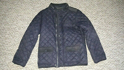 Tu Boys Paded Jacket With Hoodie, Size 12 Years Old, Dark Blue, Zip Fastening