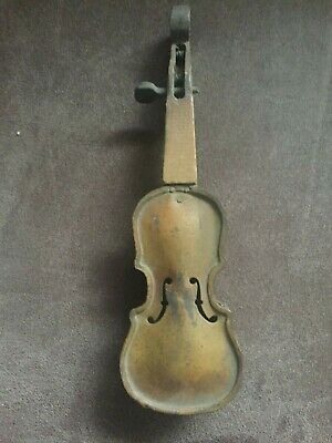 Vintage mini 9 inch violin    ( wood neck  metal body )