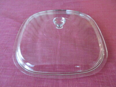 Pyrex P-10-C-1 Clear Glass Square Domed Lid for Lg. Corning Ware Casserole Dish