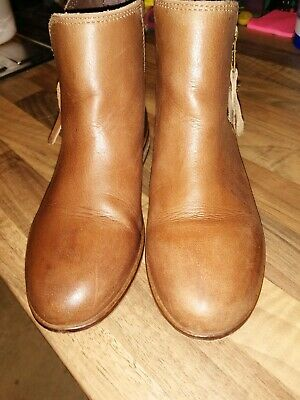 Girls Next Tan Chelsea Boots Size Junior 13