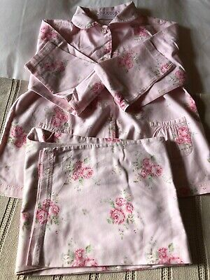 The Little White Company girls pink floral pyjamas age 11-12 years