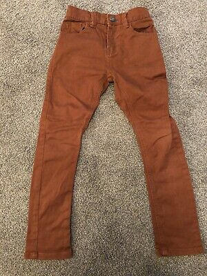 Boys Size 9 Years NEXT Rust twisted jeans - immaculate