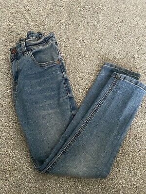 Boys Blue/grey Jeans Size 8-9 Years