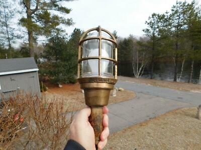 Vintage Oceanic Solid Brass Bronze Ship Drop Light Explosion Proof Nautical