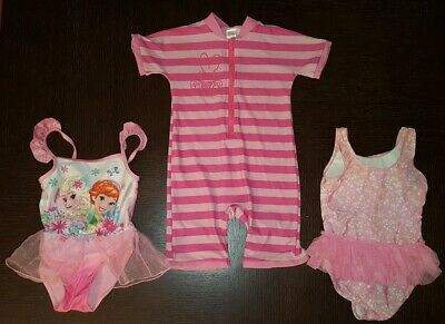 Bundle of Girls Swimsuits Sun Suit Elsa Anna Frozen - Age 2-3 Years