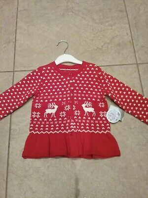 BNWT baby girls Matalan red Christmas cardigan age 12 to 18mths