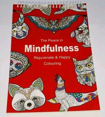 ADULT COLOURING BOOK Spiral Mindfulness Relaxing Anti-Stress 90 Patterns Gift
