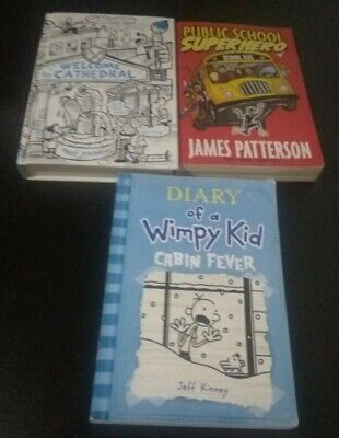 LOT OF 3 JAMES PATTERSON & Diary of a Wimpy Kid Books! Great for a classroom!