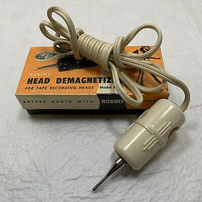 ROBINS TAPE HEAD DEMAGNETIZER Model HD-6 For Recording Heads Box & Instructions