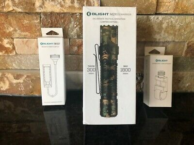 New Olight Camo M2R Pro Warrior + Rwx07 Dt Magnetic Remote Switch + E-Wm25 Mount