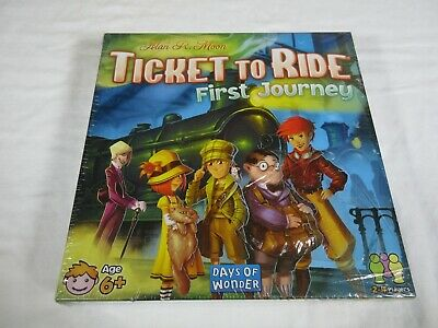 Ticket to Ride: First Journey Strategy Board Game New Factory Sealed