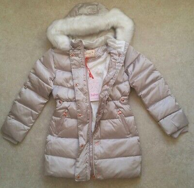 Baker by Ted Baker Girls' Ivory Padded Shower Resistant Coat Age 13 Years