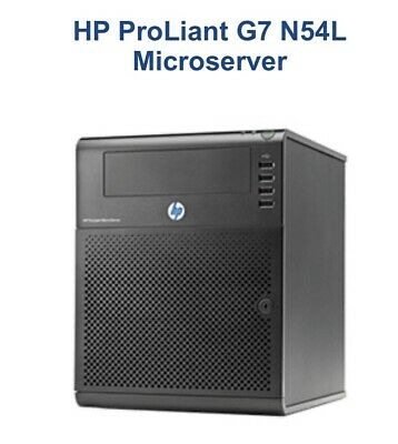 HP ProLiant G7 N54L Microserver And 4 X3TB Disk + 1x64gb SSD