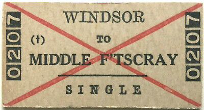 VR Ticket - WINDSOR to MIDDLE FOOTSCRAY - Single