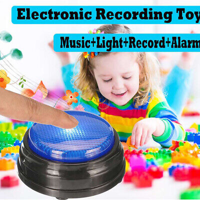 Recordable Talking Button with Led Function Learning Resource Answer Buzzer