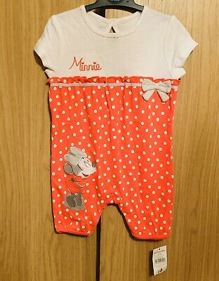 George, Minnie Mouse Baby Girls All In One Outfit, BNWT - Age 9-12 Months