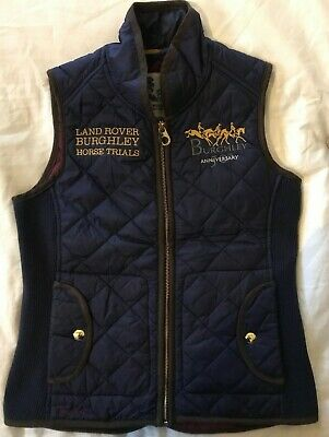 Joules Ladies BURGHLEY HORSE TRIALS/LANDROVER Navy Bodywarmer-EU XS/US 4/UK 8