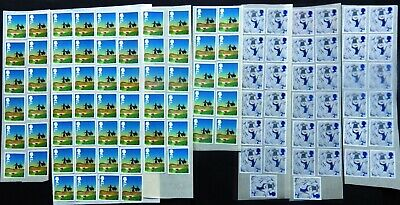 GB 100 2nd Class STAMPS  Unfranked  off paper **with part gum**  Face £61