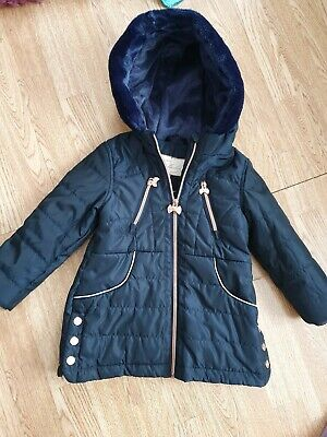 Ted Baker Girls Navy Coat 3-4