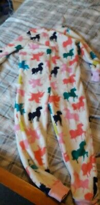 Girls All In One Sleepsuit Unicorn Age 9 -10 Years