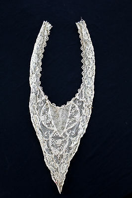 Rare Remnant Antique Victorian Embroidered Lace Collar
