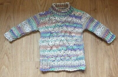 Hand Knitted Baby Chunky Knit Tunic Jumper to fit age 3-6 months - BRAND NEW