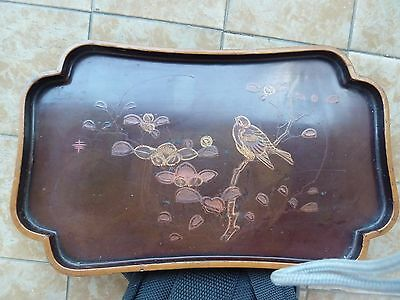 Japanese Lacquered Tray Antique  幸    エルーセ Signed 堀田製  Horita Sei