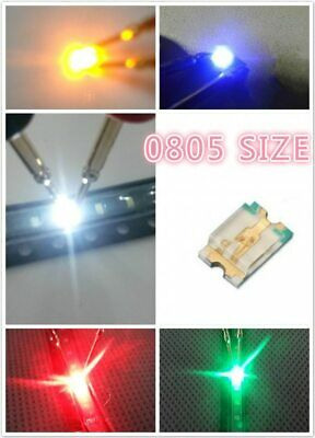 100 Stücke Rot Led Lampe Super Helle Smd Smt 0805 Rot Neue Ic su