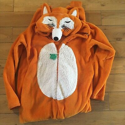 Fox Character All In One Pyjamas / Fancy Dress Size Small Fit Up To Size 10