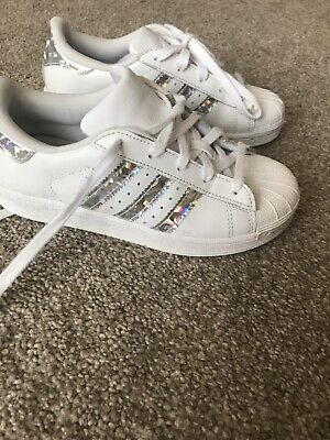 Adidas Girls Superstar Size 13 Trainers