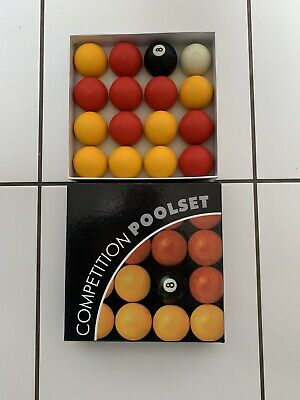 Full Size UK Regulation 16 Red and Yellow Pool Ball Set 2""
