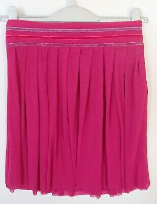 BNWT Monsoon Girls Skirt Tiggy Cranberry Hot Pink Lined Age 10-12