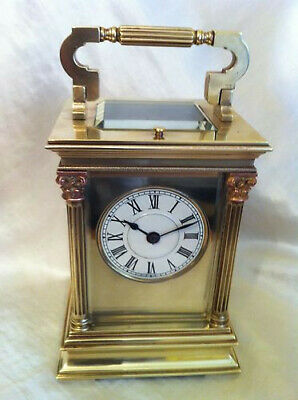Large Antique Brass Repeater Striking Carriage Clock