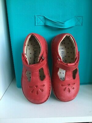 girls walkmates M&S red leather shoes size 7 infant