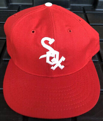 Vintage Chicago White Sox Roman Pro Leather Sweatband Hat USA Made Black Tag