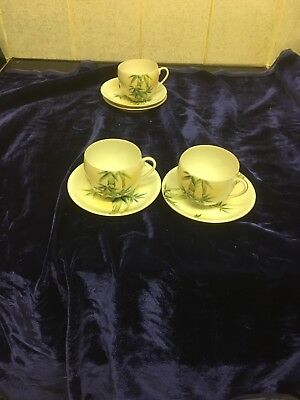 Beautiful Antique/Vintage Chinese Fine Eggshell Tea Cup & Saucer X 2