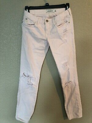 Abercrombie Kids Girls Pink Jeans Distressed Size 12