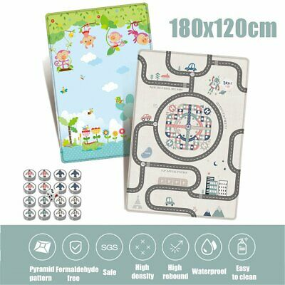 180x120x1cm Waterproof Baby Crawling Thick Play Cover Mat Game Rug Floor  B