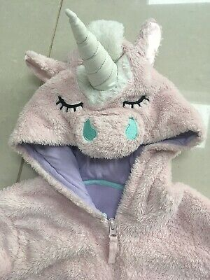 M&S Sparkly Unicorn Cosy All In One Sleep Suit Age 11-12 Years. V Good Condition