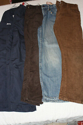 Boys bundle 5 x trousers/jeans 7-8, Gap, Landsend, Indigo, Slazenger