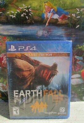 PS4 NEW Factory Sealed Earth Fall Deluxe Edition PlayStation Game Region Free