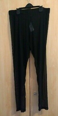 New Look Full Mesh Leggings Size 14 - Unworn - Rock/Goth/Emo/Punk Unusual