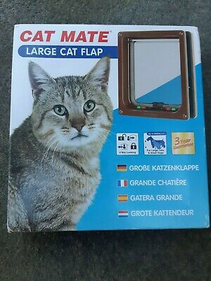 Cat Mate Large Cat Flap, Brown. Small Dog. Brand New in Packaging