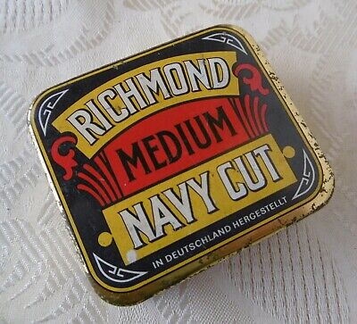 Alte Blechdose, »Richmond, Medium, Navy Cut«, leer, um 1950