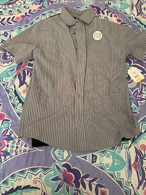 Boys Size Xl (14-16) Faded Glory Grey Button Down And Black T-shirt NWT
